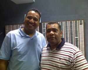 Miguel Susana, Locutor, galardonado Microfono de Oro, Director Radio Ven, Santo Domingo, Rep. Dom y Cesr Lantigua, Presentador de NOTIVISION
