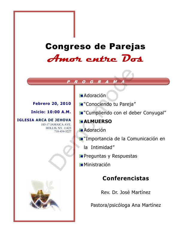 Congreso de pareja- programa